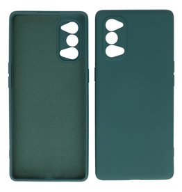 2.0mm Thick Fashion Color TPU Case Oppo Reno 4 Pro 5G Dark Green