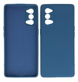 2.0mm Dikke Fashion Color TPU Hoesje Oppo Reno 4 5G Navy