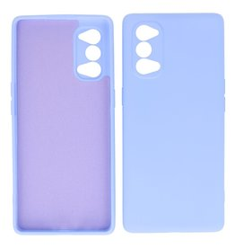 2.0mm Dikke Fashion Color TPU Hoesje Oppo Reno 4 5G Paars