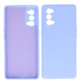 2.0mm Thick Fashion Color TPU Case Oppo Reno 4 5G Purple