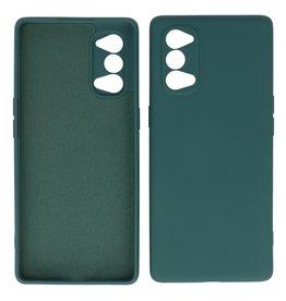 2.0mm Dikke Fashion Color TPU Hoesje Oppo Reno 4 5G Donker Groen
