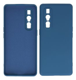 2.0mm Thick Fashion Color TPU Case Oppo Find X2 Pro Navy