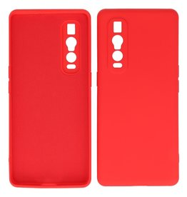 2.0mm Thick Fashion Color TPU Case Oppo Find X2 Pro Red
