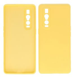 2.0mm Thick Fashion Color TPU Case Oppo Find X2 Pro Yellow