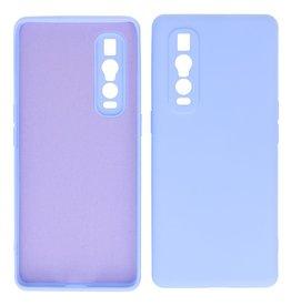 2.0mm Thick Fashion Color TPU Case Oppo Find X2 Pro Purple