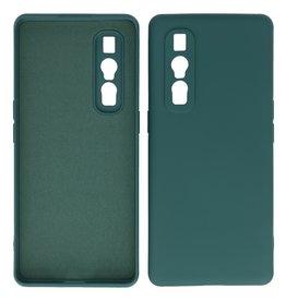 2.0mm Thick Fashion Color TPU Case Oppo Find X2 Pro Dark Green