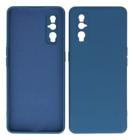2.0mm Thick Fashion Color TPU Case Oppo Find X2 Navy