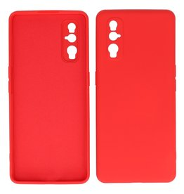 2.0mm Thick Fashion Color TPU Case Oppo Find X2 Red