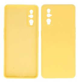 2.0mm Thick Fashion Color TPU Case Oppo Find X2 Yellow