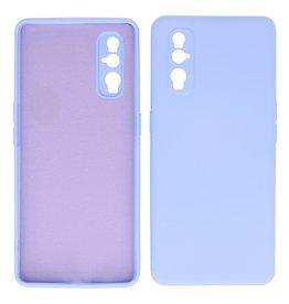 2.0mm Thick Fashion Color TPU Case Oppo Find X2 Purple
