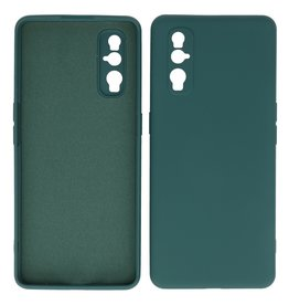 2.0mm Thick Fashion Color TPU Case Oppo Find X2 Dark Green