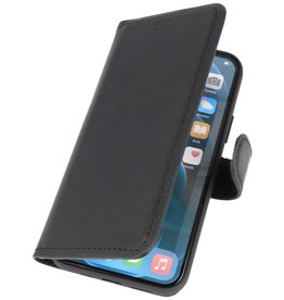 MF Handmade Leather Bookstyle Hülle iPhone 12 - 12 Pro Schwarz