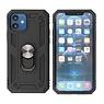 Pantser Hoesje met Ring Houder iPhone 12 Mini Zwart