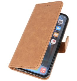 Bookstyle Wallet Cases Hoes voor iPhone 12 mini Bruin