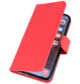 Bookstyle Wallet Cases Cover for iPhone 12 Pro Max Red