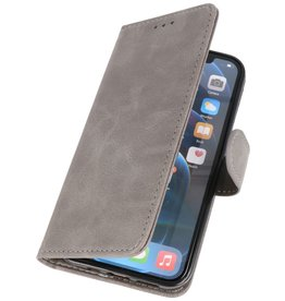 Bookstyle Wallet Cases Hoes voor iPhone 12 Pro Max Grijs