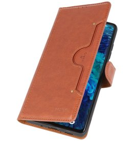Luxury Wallet Case for Samsung Galaxy S20 FE Brown