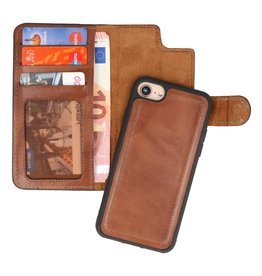 MF Handmade 2 in 1 Leather Bookstyle Case iPhone 8/7 Brown