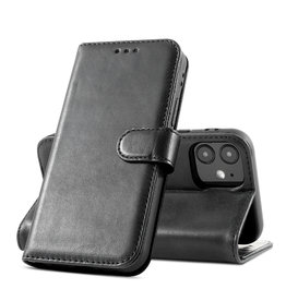 Classic Design Genuine Leather Case iPhone 12 Mini Black