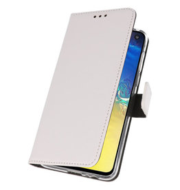 Wallet Cases Cover for Samsung Galaxy A70e White
