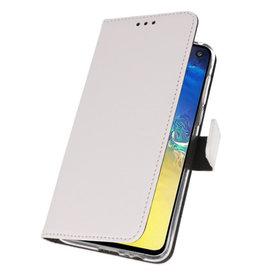 Wallet Cases Cover für Samsung Galaxy A70e Weiß
