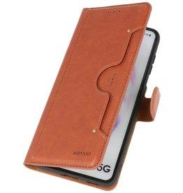 Luxury Wallet Case for Samsung Galaxy S21 Brown