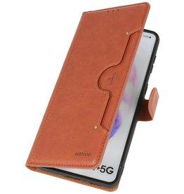 Luxury Wallet Case for Samsung Galaxy S21 Plus Brown