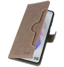Luxury Wallet Case for Samsung Galaxy S21 Plus Gray