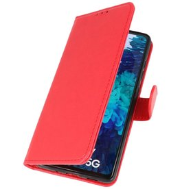 Bookstyle Wallet Cases Hoesje voor Samsung Galaxy S20 FE Rood