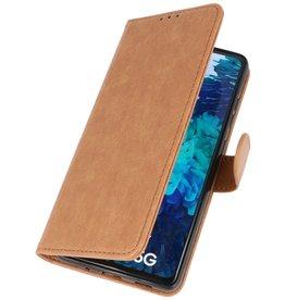 Bookstyle Wallet Cases Hoesje voor Samsung Galaxy S20 FE Bruin