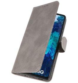 Bookstyle Wallet Cases Hoesje voor Samsung Galaxy S20 FE Grijs