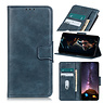 Pull Up PU Leder Bookstyle Hoesje voor Samsung Galaxy S21 Blauw