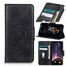 Pull Up PU Leather Bookstyle Case for Motorola Moto G9 Power Black