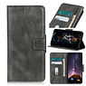 Pull Up PU Leather Bookstyle Case for Motorola Moto G9 Power Dark Green