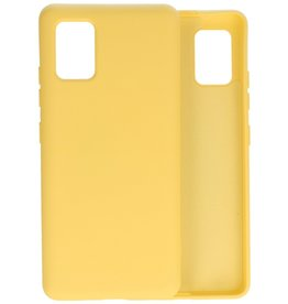 2.0mm Thick Fashion Color TPU Case Samsung Galaxy A51 5G Yellow