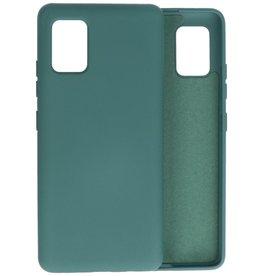 2.0mm Thick Fashion Color TPU Case Samsung Galaxy A51 5G Dark Green