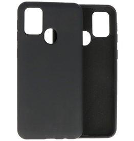 2.0mm Dikke Fashion Color TPU Hoesje Samsung Galaxy M21 / M21s Zwart