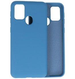 2.0mm Dikke Fashion Color TPU Hoesje Samsung Galaxy M21 / M21s Navy