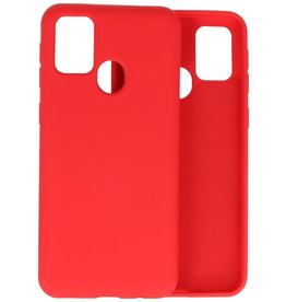 2.0mm Dikke Fashion Color TPU Hoesje Samsung Galaxy M21 / M21s Rood
