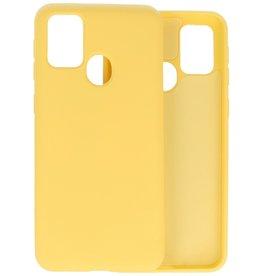 2.0mm Dikke Fashion Color TPU Hoesje Samsung Galaxy M21 / M21s Geel