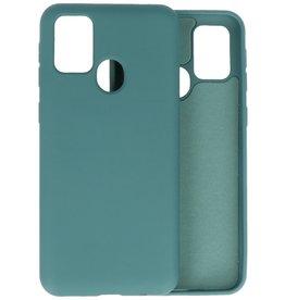 2.0mm Dikke Fashion Color TPU Hoesje Samsung Galaxy M21 / M21s Donker Groen