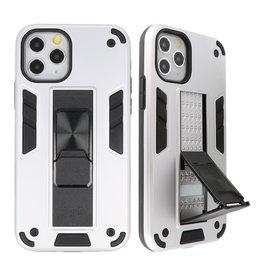 Stand Hardcase Backcover voor iPhone 11 Pro Zilver