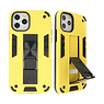 Stand Hardcase Backcover voor iPhone 11 Pro Geel