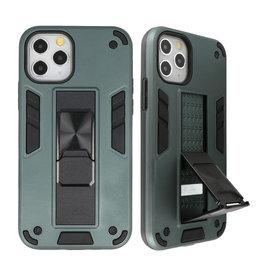 Stand Hardcase Backcover voor iPhone 11 Pro Donker Groen