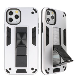 Stand Hardcase Backcover für iPhone 11 Pro Max Silver