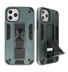 Stand Hardcase Backcover voor iPhone 11 Pro Max Donker Groen