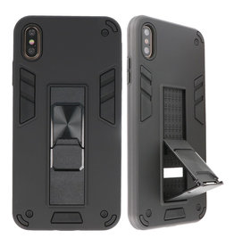 Stand Hardcase Backcover für iPhone X / Xs Schwarz