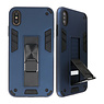 Stand Hardcase Backcover für iPhone X / Xs Navy