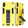 Stand Hardcase Backcover für iPhone X / Xs Gelb