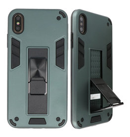 Stand Hardcase Backcover für iPhone X / Xs Dunkelgrün